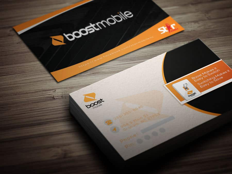 Entry 13 by nusratnushooo for boost mobile business card freelancer contest entry 13 for boost mobile business card colourmoves Images