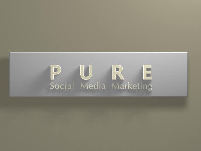 Bài tham dự cuộc thi #304 cho Logo Design for PURE Social Media Marketing