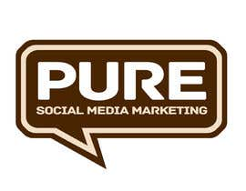 #225 para Logo Design for PURE Social Media Marketing por kxhead