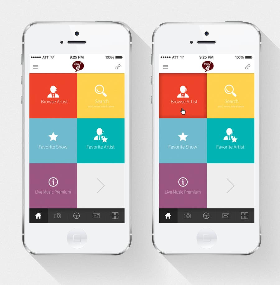 Design for home screen of mobile app suitable for both House layout app
