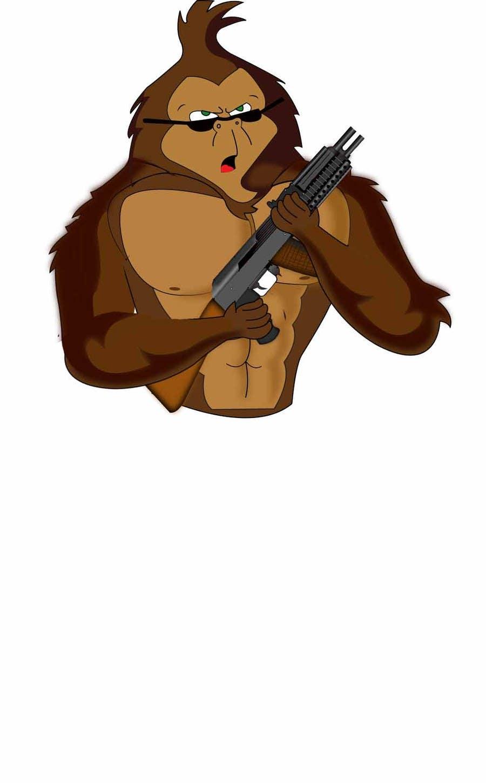 Proposition n°                                        34                                      du concours                                         Design a simple mascot / monkey / caricature