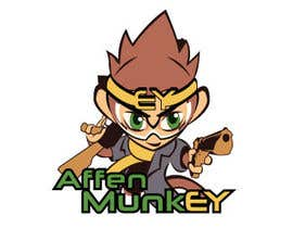 nº 37 pour Design a simple mascot / monkey / caricature par tanotano