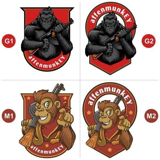 Proposition n°                                        19                                      du concours                                         Design a simple mascot / monkey / caricature