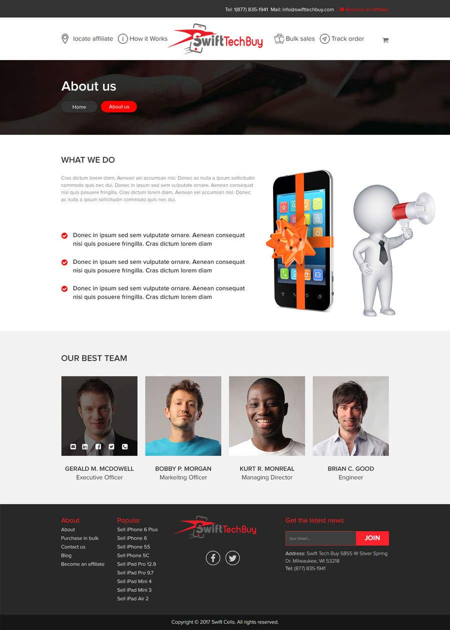 Entry 16 By Sayed16 For Design 2 Pages In Psd Design An About Us
