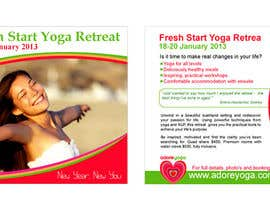 #50 cho Marketing postcard for Adore Yoga bởi greatsadek