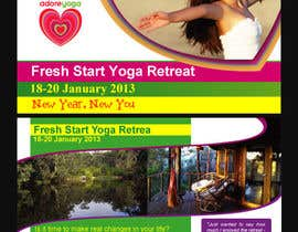 #38 cho Marketing postcard for Adore Yoga bởi greatsadek