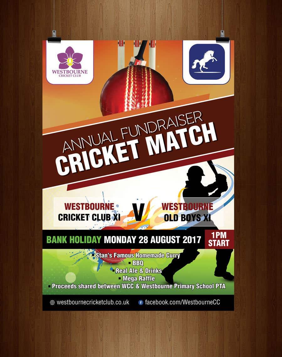 """Intrarea #30 pentru concursul """"Fundraiser Poster Design for Print - Cricket!"""""""