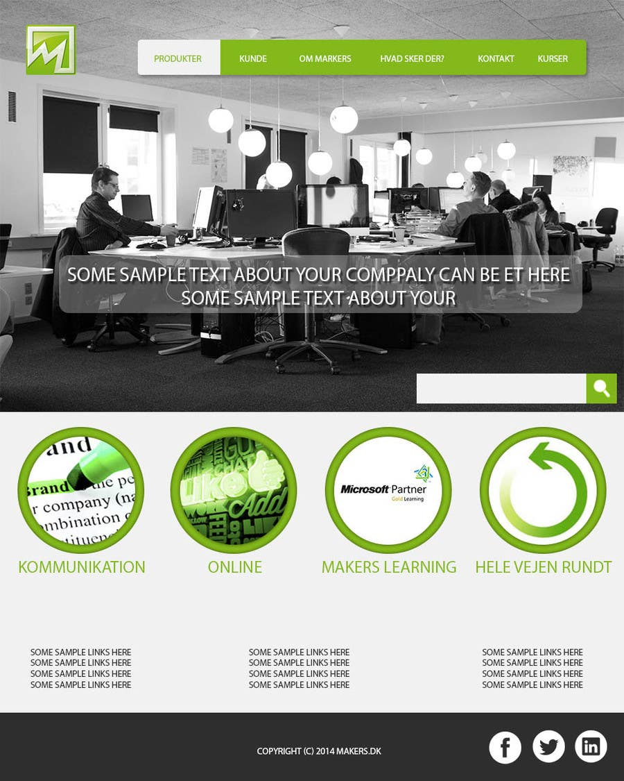 Konkurrenceindlæg #                                        6                                      for                                         Design a Website Mockup for http://makers.dk