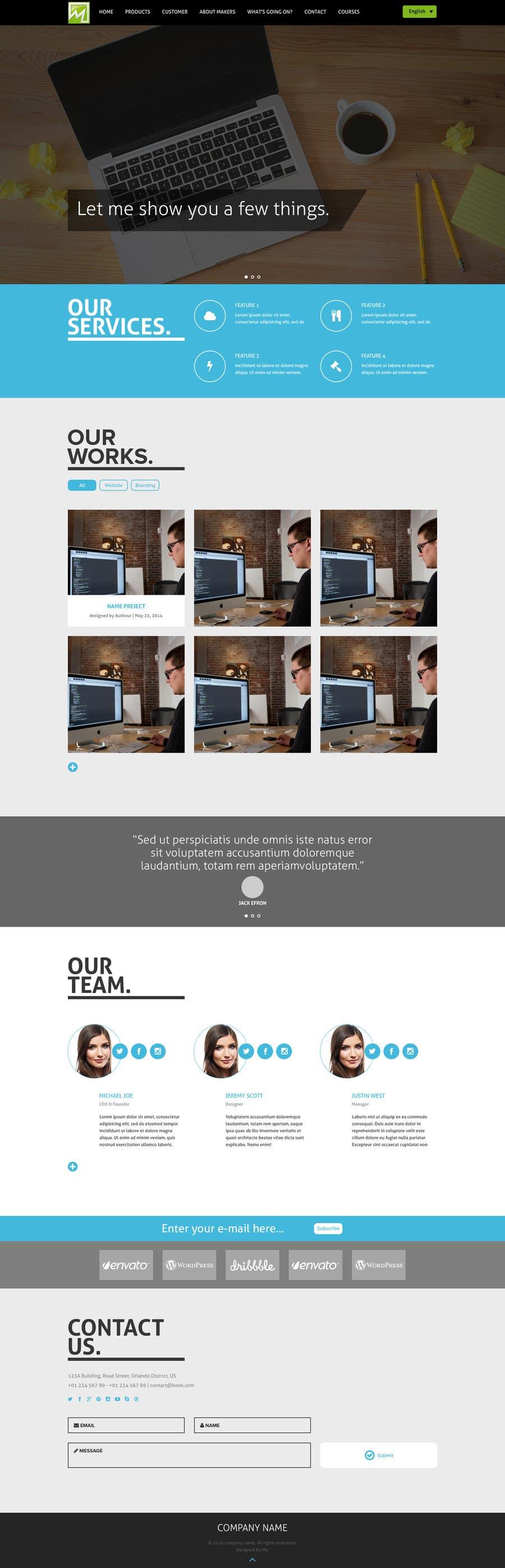 Konkurrenceindlæg #                                        15                                      for                                         Design a Website Mockup for http://makers.dk