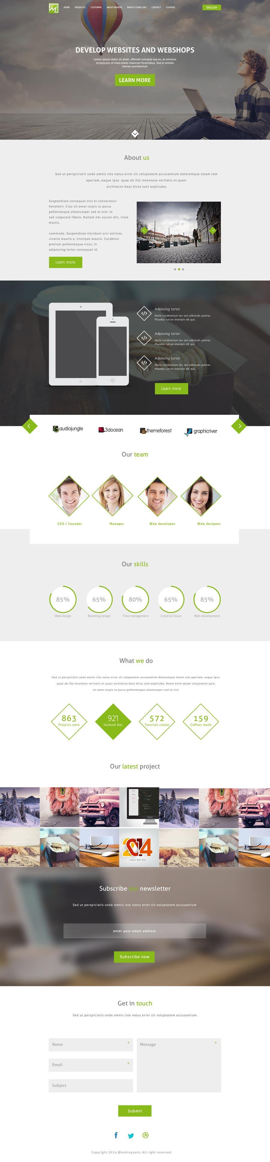 Konkurrenceindlæg #                                        17                                      for                                         Design a Website Mockup for http://makers.dk