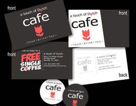 "nº 7 pour Design of 2 business cards, a ""Free Coffee"" card and a sticker logo par gustel"