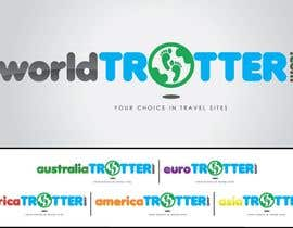 #220 dla Logo Design for travel website Worldtrotter.com przez tiffont