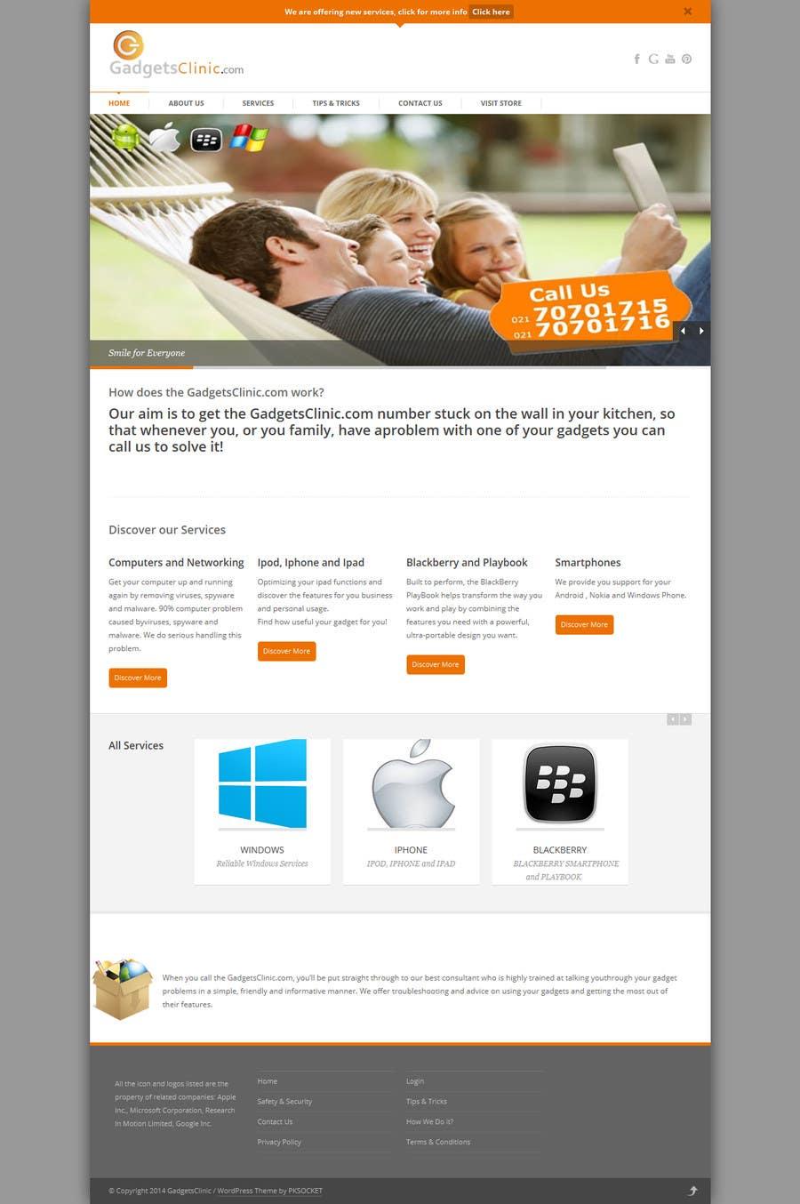 Penyertaan Peraduan #                                        7                                      untuk                                         redesign website www.GadgetsClinic.com