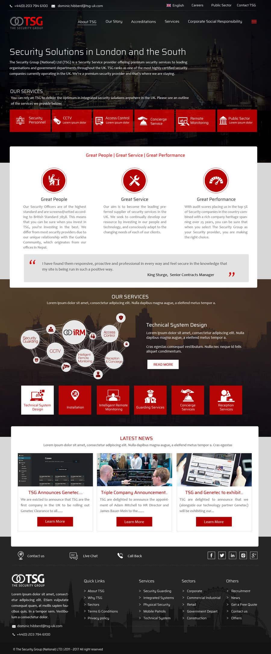 Participación en el concurso Nro.50 para TSG Website Build.
