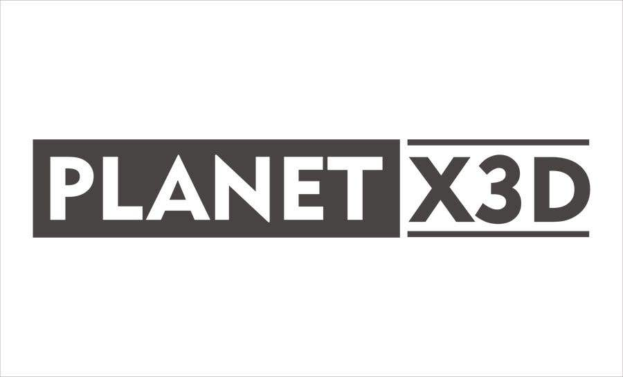 Entry 89 By Ryochandra For Design A One Color Logo Planet X 3d