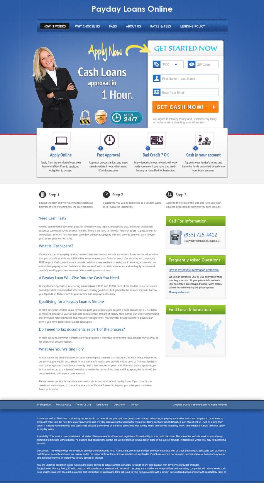 Inscrição nº                                         75                                      do Concurso para                                         Website Design for Payday Loans Website