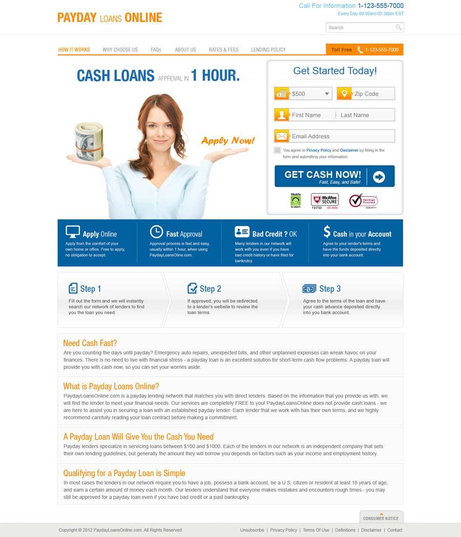 Bài tham dự cuộc thi #16 cho Website Design for Payday Loans Website