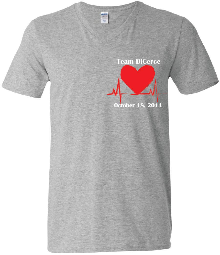 Heart design t shirt -  4 For Design A T Shirt For A Heart Walk By Emilytillett