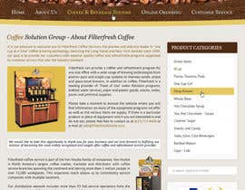 nº 61 pour Website Design for Coffee Solutions Group par MishAMan