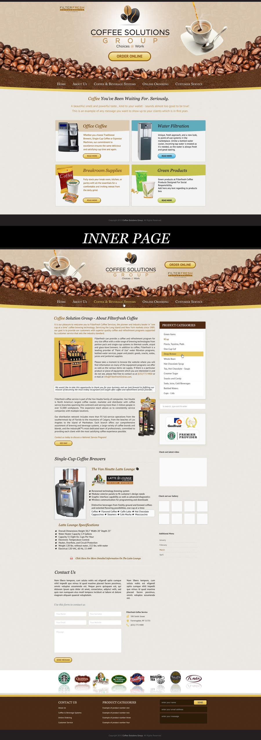 Proposition n°                                        52                                      du concours                                         Website Design for Coffee Solutions Group