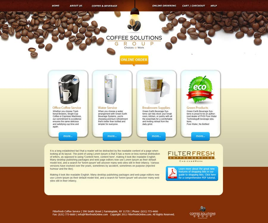 Proposition n°                                        26                                      du concours                                         Website Design for Coffee Solutions Group