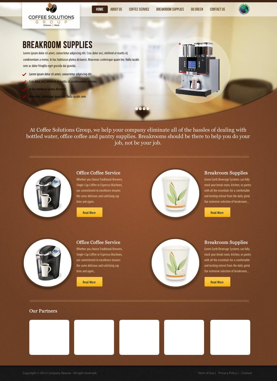 Proposition n°                                        77                                      du concours                                         Website Design for Coffee Solutions Group