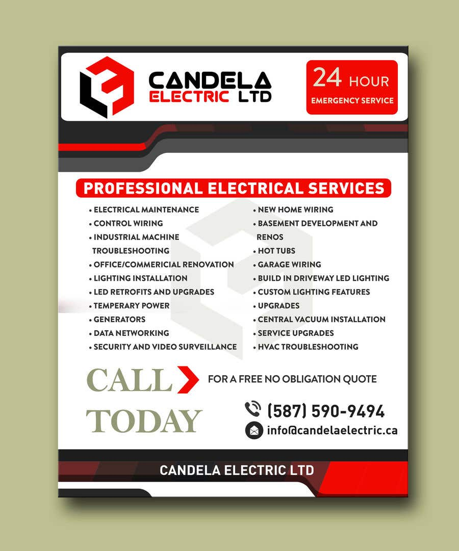 Entry 7 By Adesign060208 For Design A Flyer And Postcard Basement Electrical Wiring Video Contest Candela Electric Ltd