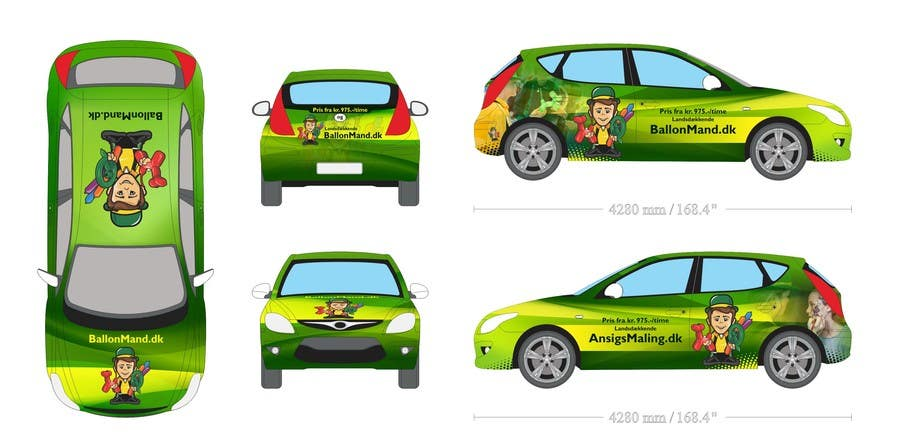 Contest Entry #22 for Cardesign for Ballonmand.dk and Ansigtsmaling.dk