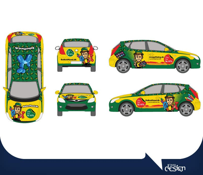 Contest Entry #                                        25                                      for                                         Cardesign for Ballonmand.dk and Ansigtsmaling.dk