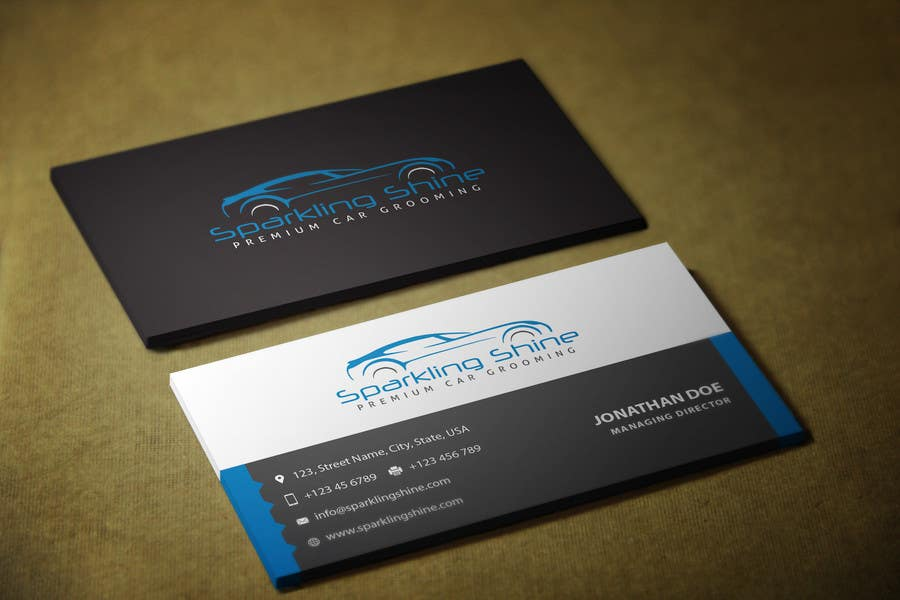Entry 44 by ibrahimmotorwala for design some business for Car wash business cards