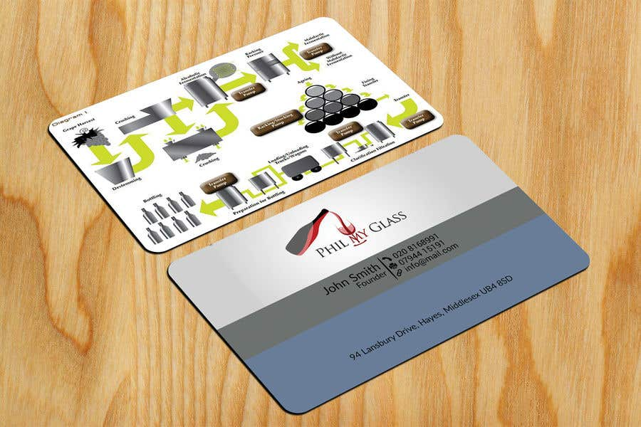 Entry 13 by saju163 for wine business card back design freelancer wine business card back design colourmoves