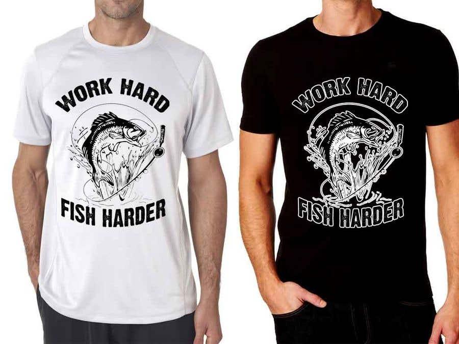 Kilpailutyö #26 kilpailussa Design a Fishing T-Shirt with a Vintage Style