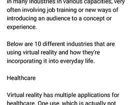 #2 for Write some Articles on how industrial companies (I want specific examples) are using Virtual Reality af Strangerplus