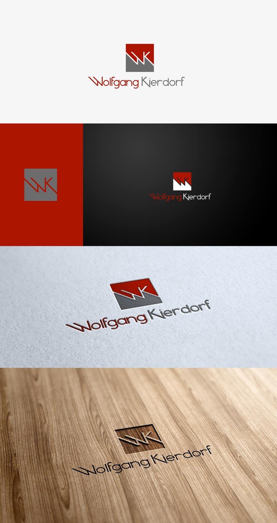 Proposition n°                                        7                                      du concours                                         Logo Design for Personal Brand Logo: Wolfgang Kierdorf