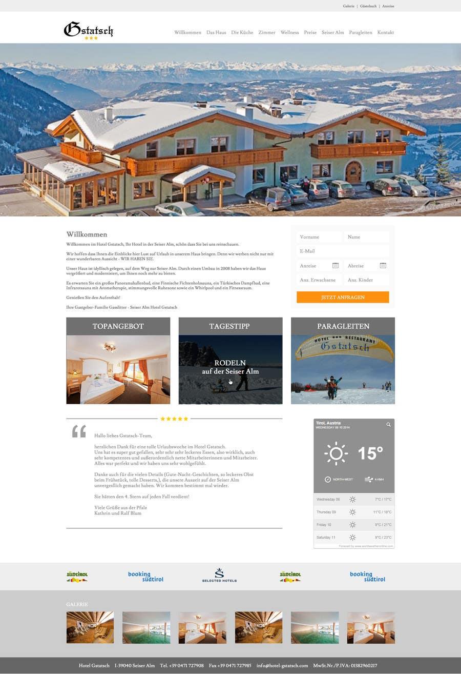 Wettbewerbs Eintrag #2 für Design eines Website Layouts für Hotel