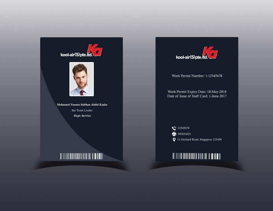 Staff Design Gdesignercom 52 Entry Freelancer Card By For Id