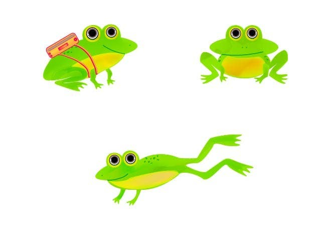 Kilpailutyö #27 kilpailussa Help us create a FROG that will be our MAIN CHARACTER for new KIDS ipod app.