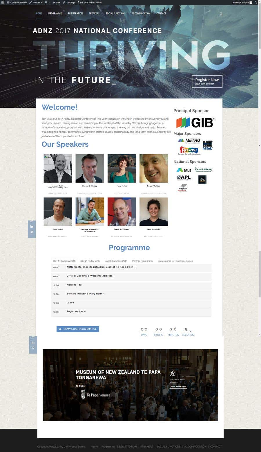 Contest Entry 12 For Conference Website Template