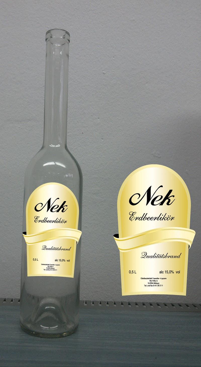 Kilpailutyö #120 kilpailussa Graphic Design- Label for fruit liqueur.