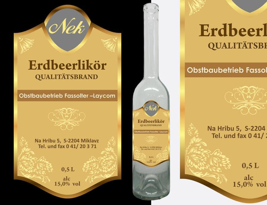 Bài tham dự cuộc thi #106 cho Graphic Design- Label for fruit liqueur.