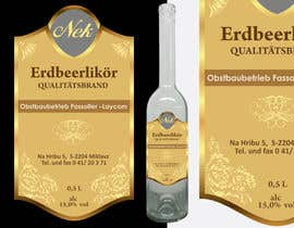#106 untuk Graphic Design- Label for fruit liqueur. oleh venug381