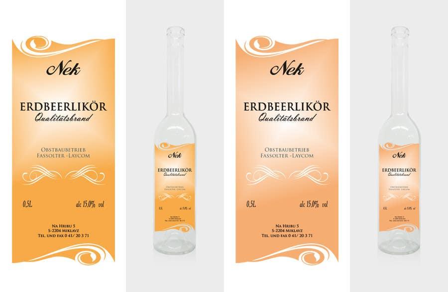 Bài tham dự cuộc thi #124 cho Graphic Design- Label for fruit liqueur.