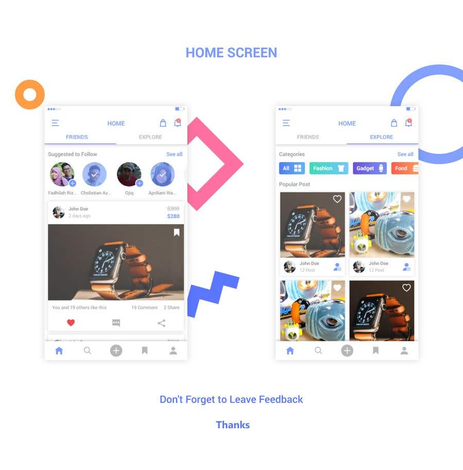 Mobile App Home Screen Redesign