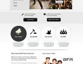 #40 untuk Website Design for BFR Music Services oleh SadunKodagoda