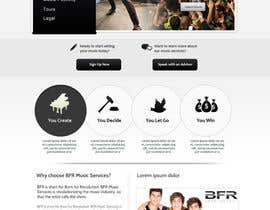 #41 untuk Website Design for BFR Music Services oleh SadunKodagoda