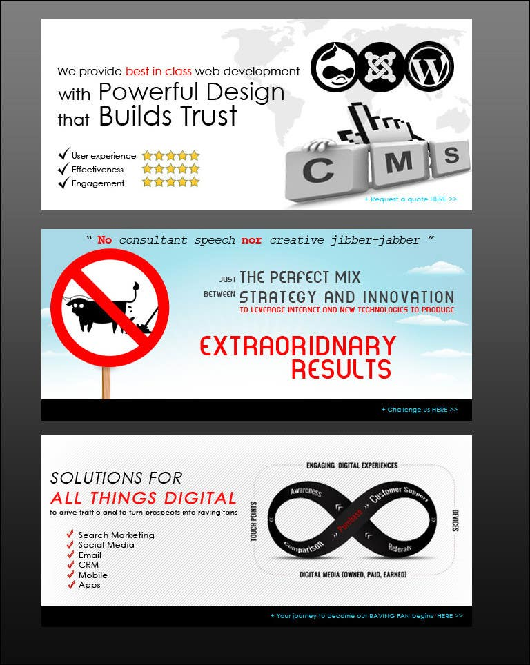 Banner Design Contest Entry #7 for Banner Ad Design for Ocho Digital Inc.