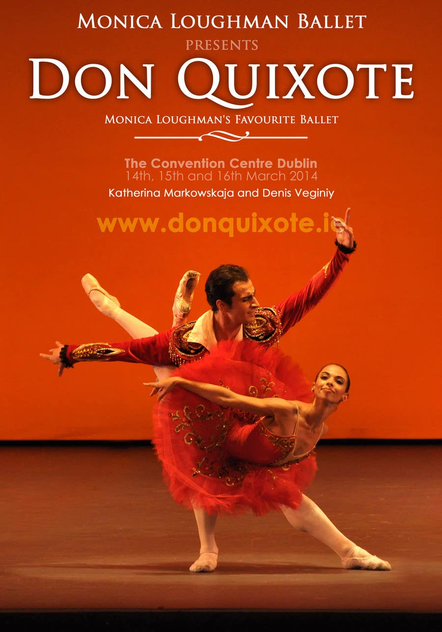 Penyertaan Peraduan #246 untuk Graphic Design for Classical ballet event called Don Quixote