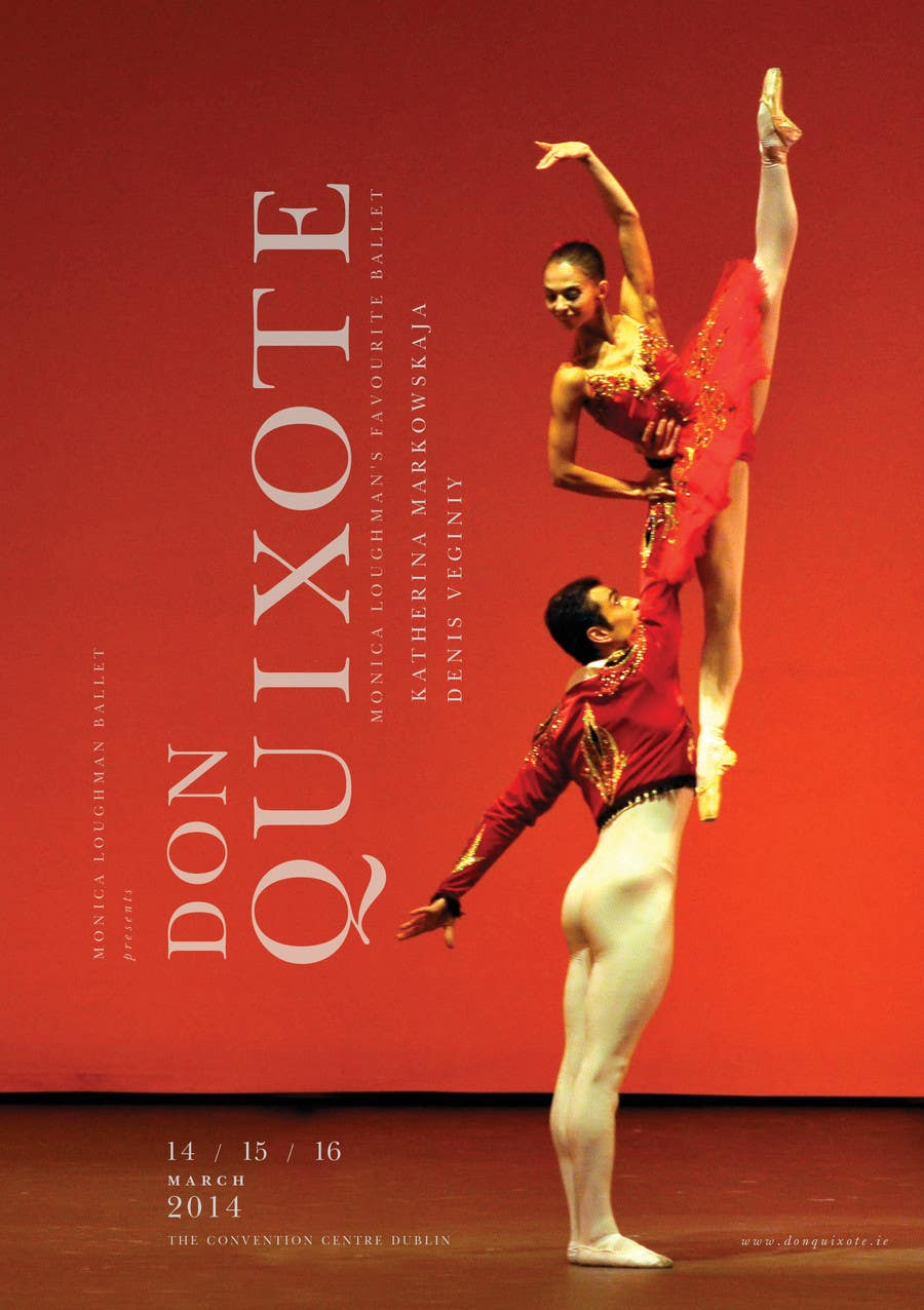 Photography Contest Entry #51 for Graphic Design for Classical ballet event called Don Quixote