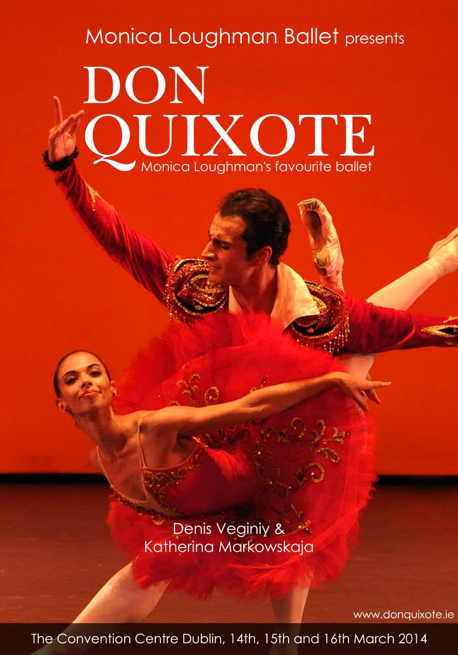 Penyertaan Peraduan #230 untuk Graphic Design for Classical ballet event called Don Quixote