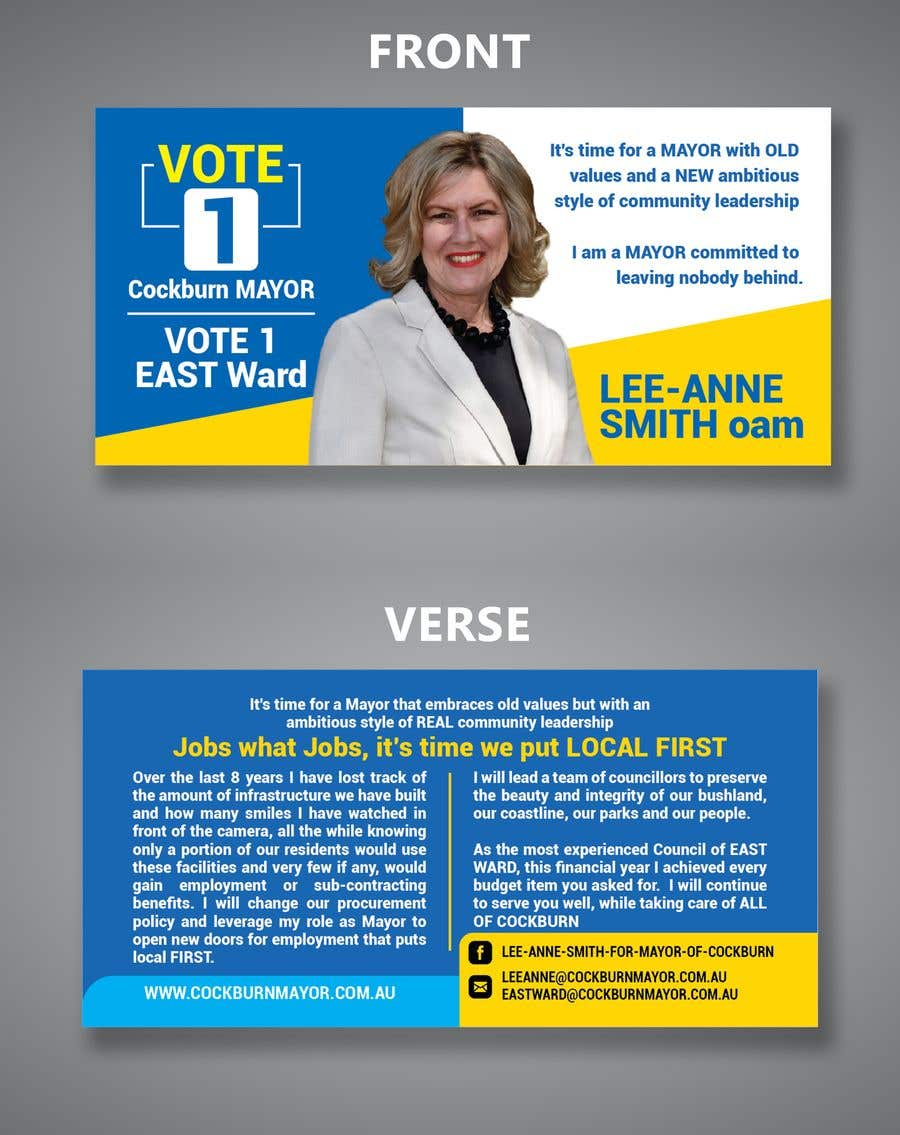 contest entry 16 for election flyer dl
